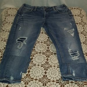Silver Brand Girlfriend Denimotion Cropped Jeans